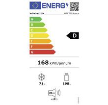 Réfrigérateur-congélateur Wolkenstein KGK 280 A+++ lxhxp 55.4 x 180 x 55.8 cm compartiment de réfrigération 198 l compartiment de congélation 71 l-thumb-1