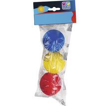 Balles de softball Happy People Ø 7 cm coloré 3 pces-thumb-0