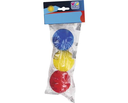 Balles de softball Happy People Ø 7 cm coloré 3 pces-0