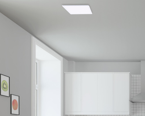 Plafonnier LED 18W 1600lm 2700K blanc chaud 291x291mm