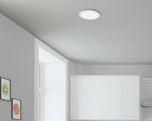 Panneau LED capteur IP20 20W 1600 lm 4000 K blanc neutre HxØ 50/300mm chrome/mat/blanc