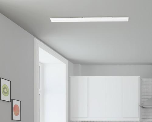 Panneau LED RGB CCT à intensité lumineuse variable 34W 4500 lm 2700-6500 K blanc chaud - blanc naturel Crosslink blanc hxLxl 45x1195x100 mm avec télécommande