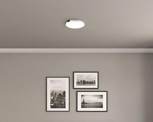 LED Deckenleuchte IP44 18W 1700 lm 4000 K neutralweiß HxØ 65x355 mm weiß/chrom