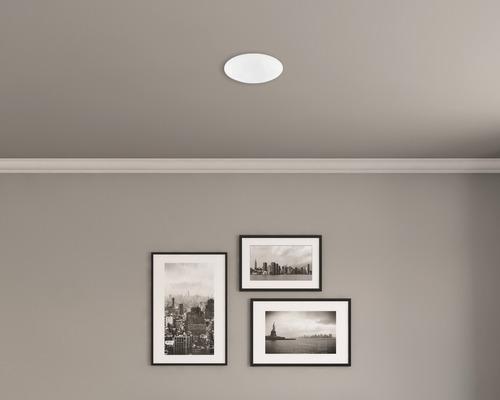 Plafonnier LED FLAIR 1x13W 800lm 2.700K blanc chaud Ø 300mm blanc
