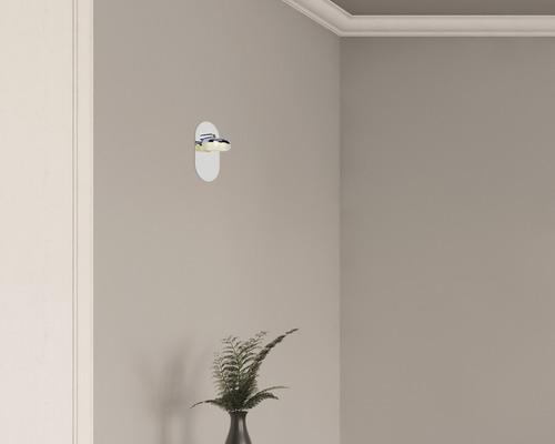 Applique murale LED 1x5W 500lm 4000K blanc neutre h 120mm Ohio chrome/blanc