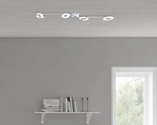 Spot LED Donut 4x5,3W chromé/blanc