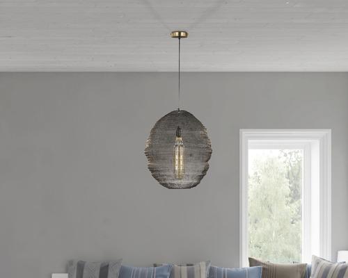 Lampe suspendue Ano ronde vieux laiton 3 ampoules Ø 460 mm