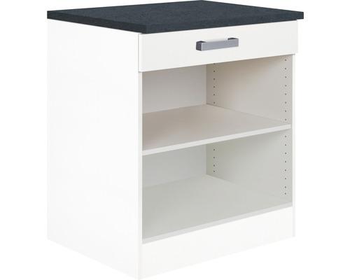 Meuble bas Optifit Salo largeur 60 cm HWSA UR606-7+ blanc