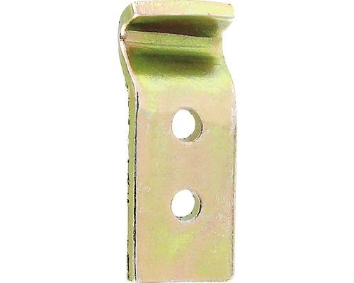 Crochets de fermeture pour serrure de caisse Type D 12x32mm, jaunes galvanisés