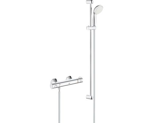 Ensemble de douche GROHE Grohtherm 800 34566001 longueur de la barre de douche 90 cm avec robinet thermostatique
