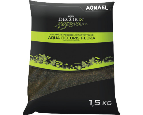 Substrat AQUAEL Aqua Decoris Flora 1,5 kg noir