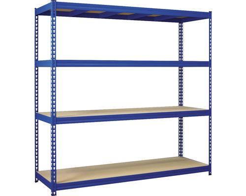 Étagère pour charges lourdes Robus 400 bleu 1800x1800x600 mm 4 tablettes capacité de charge 1600 kg