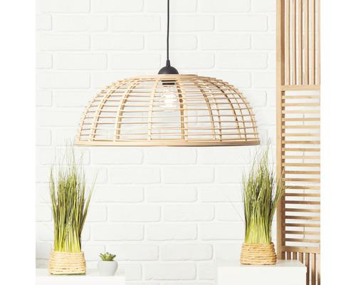 Suspension plastique-bambou 1 ampoule hxØ 1200x560 mm Crosstown noir/naturel