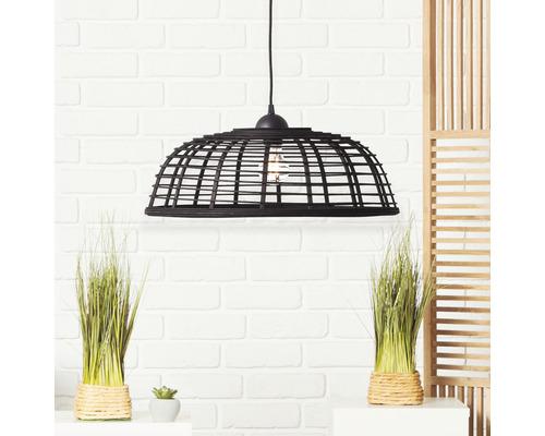 Suspension plastique-bambou 1 ampoule hxØ 1200x470 mm Crosstown noir