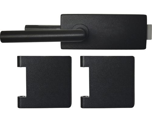 Kit de ferrures Pertura Jane noir RAL 9005 non verrouillable PZ pour paumelle Studio Office en 3 parties