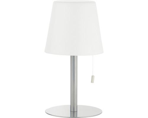 Lumière de table extérieure LED métal/plastique 1,8W 140 lm 3000 K blanc chaud + changement de couleur RGB Punto blanc/gris avec interrupteur à tirette