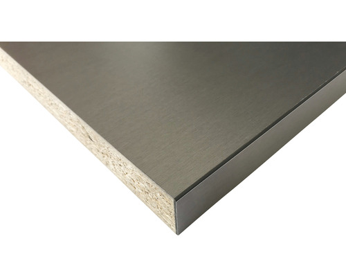 Küchenarbeitsplatte AL07 alu Anti-Fingerprint 3050x635x40 mm
