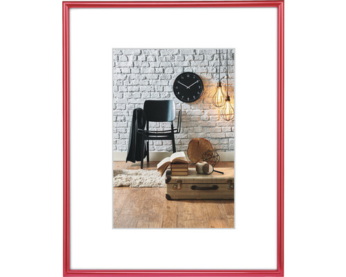 Bilderrahmen Kunststoff Sevilla rot 10x15 cm