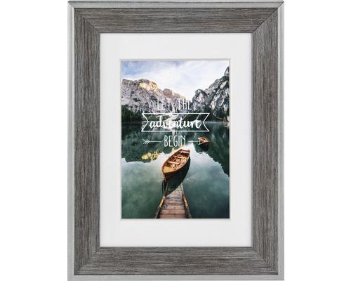 Bilderrahmen Kunststoff Sierra grau 10x15 cm