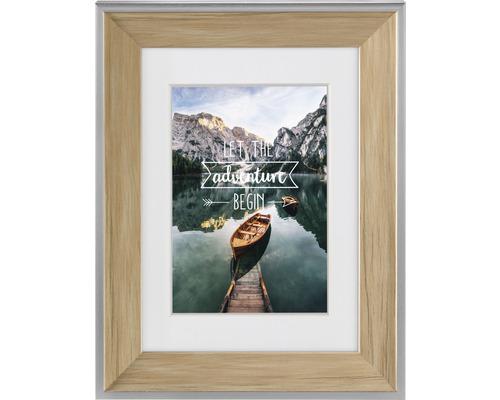 Bilderrahmen Kunststoff Sierra natur 10x15 cm
