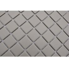 Mosaïque céramique Quadrat uni beige clair non émaillé 32.7x30.2cm-thumb-3
