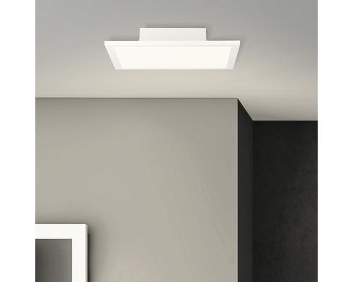 Panneau LED 18W 1800lm 2700K blanc chaud avec ampoule 300x300mm Buffi blanc