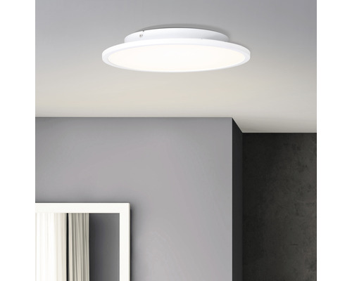 Panneau LED 24W 2400 lm 2700 K blanc chaud Ø 350 mm Buffi blanc