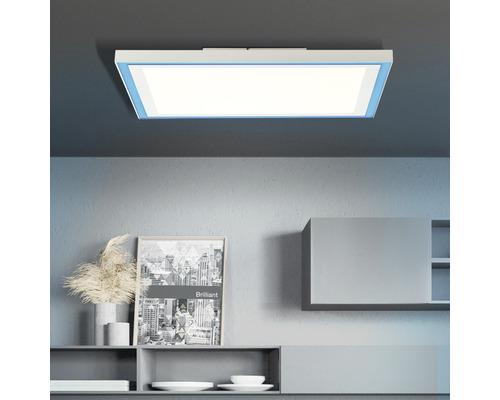 Panneau LED CCT RGB à intensité lumineuse variable 25W 2470lm 2700-6500K blanc chaud - blanc lumière du jour hxlxp 50x400x400mm avec télécommande Lanette blanc