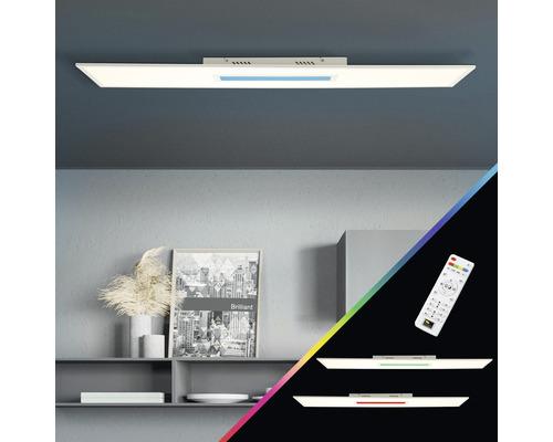 Panneau LED CCT RGB à intensité lumineuse variable 37W 4200lm 2700-6500K blanc chaud - blanc lumière du jour hxlxp 50x1195x295mm avec télécommande Odella blanc