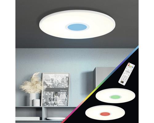 Panneau LED CCT RGB à intensité lumineuse variable 24W 2940lm 2700-6500K blanc chaud - blanc lumière du jour hØ 50x450mm avec télécommande Odella blanc