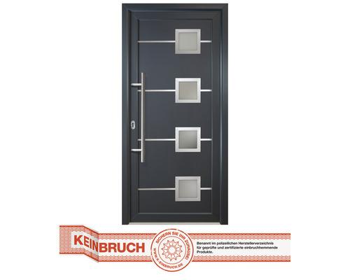 Porte d''entrée Signum modèle 1 RC2 Aluminium titane/titane 98x200 cm tirant gauche
