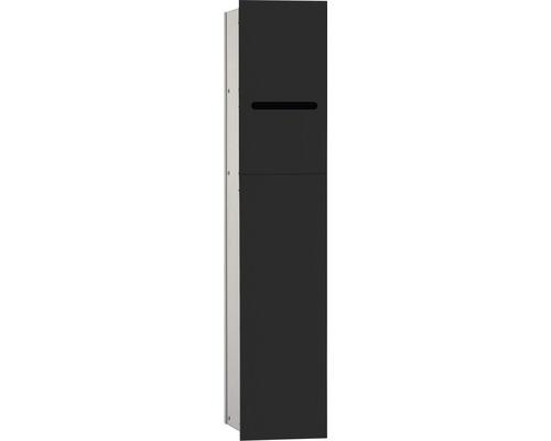 Module WC emco asis 2.0 noir pour montage encastré noir/argent anodisé 811 mm butée à droite 975427550