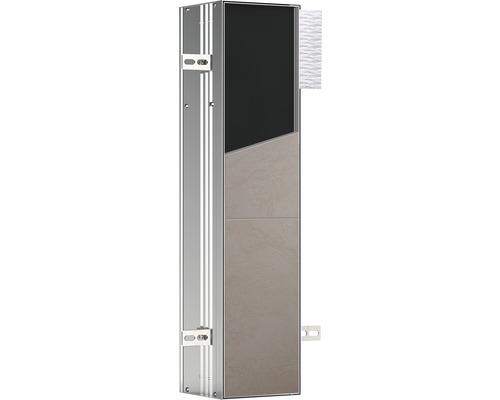 Module WC emco asis plus pour montage encastré 658 mm butée à gauche 975611006