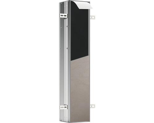 Module WC emco asis plus pour montage encastré retrait par le haut 803 mm butée à gauche 975611010