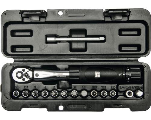 """Kit de clé dynamométrique 1/4"""" WGB avec jeu d''embouts 2-24 Nm 1/4"""""""