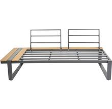 Loungeset Garden Place Alu 237 x 237 cm 7-Sitzer 3 tlg. inkl. Tisch 120 x 70 x 69 cm in Holzoptik inkl. Sitzkissen hellgrau-thumb-8