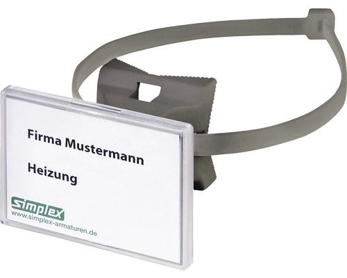 Porte-étiquette Simplex Quick avec bande à fermeture rapide F55022