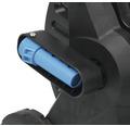 """Dévidoir plastique for_q FQ-KSW 20 avec poignée ergonomique Soft et système de freinage, avec tuyau d'arrosage confort 20m 1/2"""", pièces système et pistolet réglable en continu"""