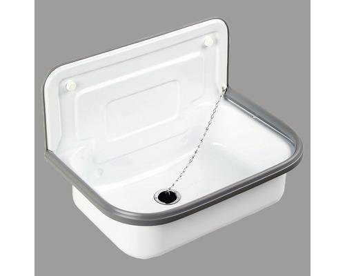 Évier déversoir blanc 50 cm