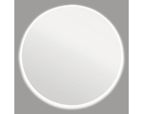 Spiegel mit Rahmen Ø60 cm weiß