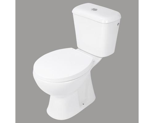 Stand-WC-Kombination Abgang senkrecht weiß