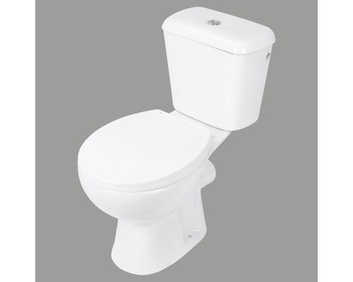Stand-WC-Kombination Abgang waagerecht weiß