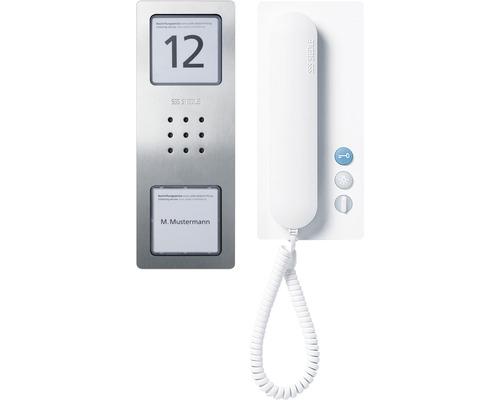 Jeu audio Siedle Compact Set CA 812-1 acier inoxydable brossé jeu d''interphone maison individuelle pose en saillie