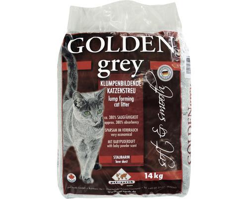 Katzenstreu Golden Grey mit Babypuderduft 14 kg