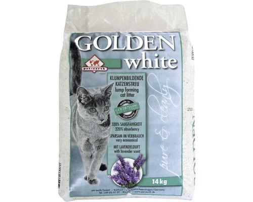 Katzenstreu Golden white mit Lavendelduft 14 kg
