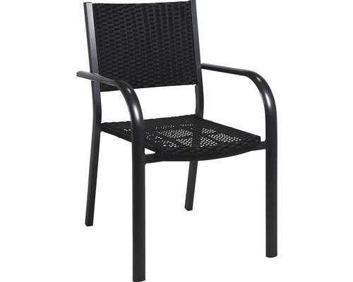 Chaise empilable Garden Place rotin aluminium anthracite