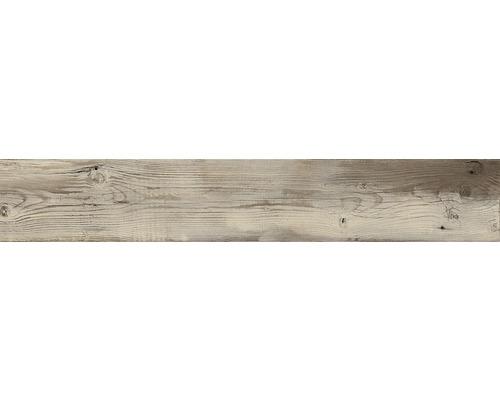 Dalle de terrasse en grès cérame fin Skagen marron mat120x20x2 cm rectifiée