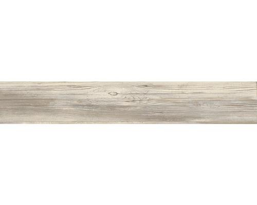 Dalle de terrasse en grès cérame fin Skagen Dark mat 120x20x2 cm rectifiée