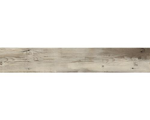 Carrelage sol et mur en grès cérame fin Skagen brown mat 20 x 120 cmrectifié