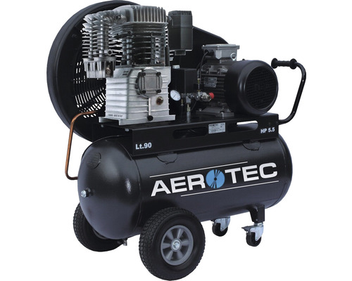 Compresseur Aerotec 780-90 PRO 90L 10 bar lubrifié à l''huile 400 V